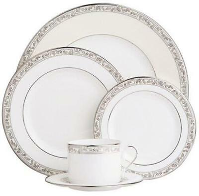 Lenox Kensington Square 5-Piece Platinum-Banded Bone China Dinnerware Place Set