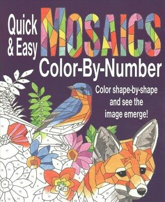 Quick & Easy Mosaics Color-by-Number, Paperback by Product Concept Mfg., Inc....](Easy Color By Number)