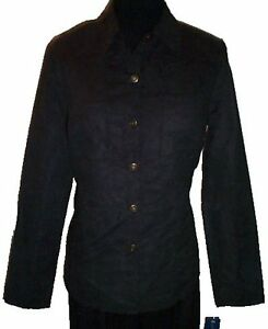 NEW - Black Suede-Like Blouse - Size 12