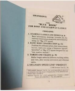 Swanson's Blue Book of Roof &  Stairway Tables, Formulas, Diag Kawartha Lakes Peterborough Area image 2