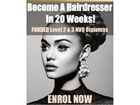 Free Funded 20-week NVQ Hairdressing course - Level 2 (limited spaces left)
