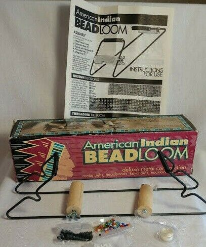 American Indian  Bead Loom  with beads, thread and instructions extra beads