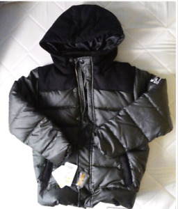 Boys size 8 down jacket, brand new with tag