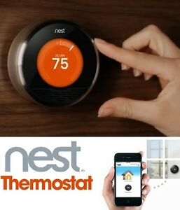 NEW NEST WI-FI SMART THERMOSTAT 3RD GENERATION WITH WARRANTY