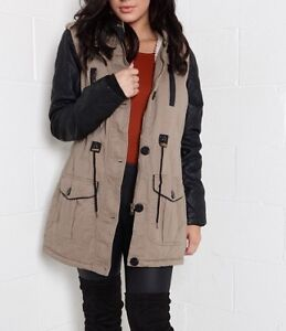 SEDUCTIONS winter coat faux fur & leather