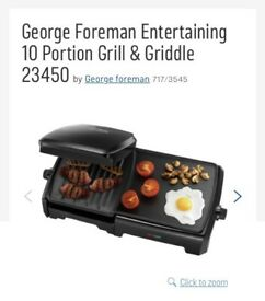 George Foreman Entertaining 10 portion Grill and Griddle.
