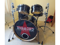 Tama Superstar Hyperdrive 6pc Charcoal Black with cases