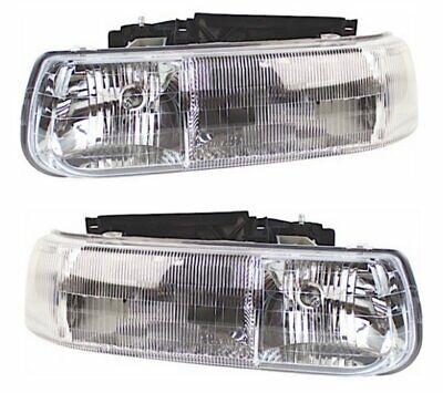 Headlights Headlamps Chevrolet Silverado 1999-2002 Suburban 2000-2006 PAIR