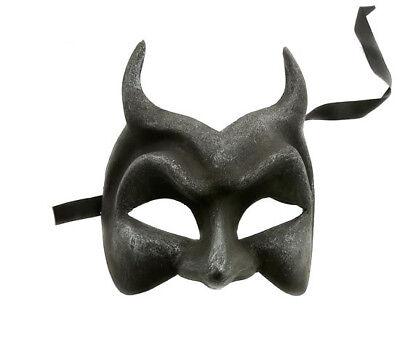 Mask from Venice Devil Diavolo Black Authentic Paper Mache Venetian 210