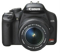 Top-rated DSLR (Canon EOS Rebel XSi) in perfect shape for $180