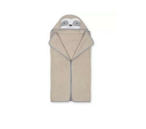 Gerber Just Born Baby Unisex Sloth Character Hooded Towel
