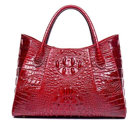 Women's Top Handle Satchel Handbags Genuine Leather Tote Bag