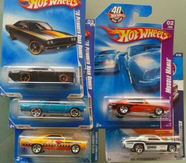 Five NEW Hot Wheels Plymouths MOC