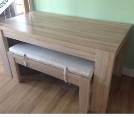 NEXT Corsica dining table with benches. Good condition