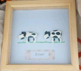 Personalized box frame Christmas, birthday, baby gift