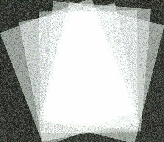 """Lot of 5 Mylar Sheets Blank Stencil Make Laser AirBrush 5mil 8.5"""" x 11"""" Frosted"""