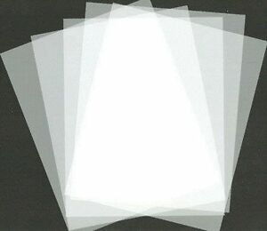 Lot of 5 Mylar Blank Stencil Making Sheets 5mil AirBrush 8.5