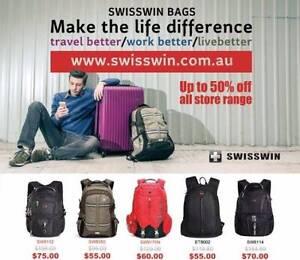 Swisswin Bag&Luggage online shop: WWW.SWISSWIN.COM.AU  50% Off Sydney Region Preview