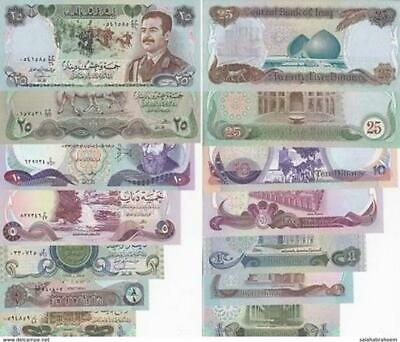 Iraqi banknotes 1986 all good condition set banknotes 7 pcs