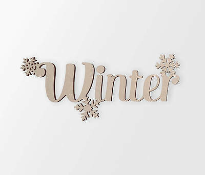 Wooden Sign Winter,Wooden Cut Out, Wall Art, Home Decor, Wall Hanging,Unfinished