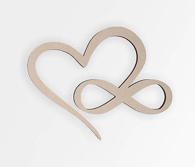 Wooden Shape Infinity Heart - Wooden Cut Out, Wall Art, Home Decor, Wall (Wooden Heart Cut Out)