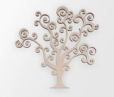 Wooden Whimsical Tree for Wedding Decor, Wooden Cut Out, Wall Art, Home Decor ()