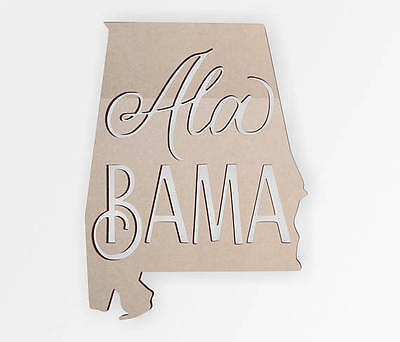 Wooden shape Alabama State Cutout, Wooden Cut Out, Wall Art, Home Decor](Cut Out Decorations)