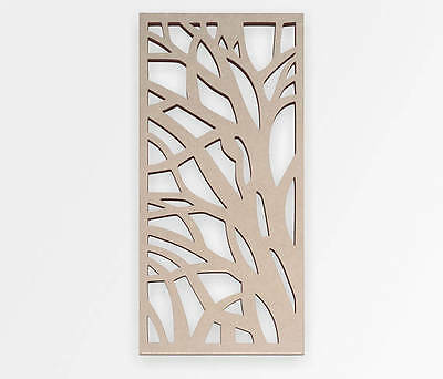 Wooden Shape Tree Branch Lace Panel, Wooden Cut Out, Wall Art, Home Decor ()