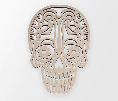Wooden Shape Tribal Sugar Skull, Wooden Cut Out,Wall Art,Home Decor,Wall Hanging Cut Out Wall Decoration