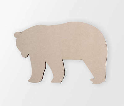 Wooden Bear Cut Out- Animal Cut Out, Wall Decor,Wall Art,Home Decor,Wall Hanging Animals Hanging Cut Out