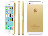 New Apple iPhone 5S Gold or Black - 16 GB -(Factory unlocked) Charger, Usb , Handsfree + Free Extras