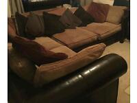Large fabric trafalgar corner sofa