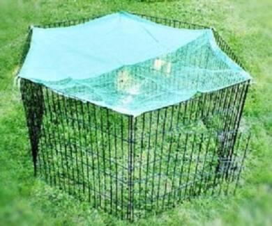 91cm 8 Panel Pet Dog Puppy Rabbit Enclosure Play Pen Cover