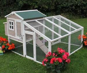 Chicken Coop with Run - Lilac, and White - Extra Large Size Largs Bay Port Adelaide Area Preview