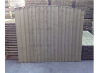 Heavy Duty Tanalised Bow Top Wooden Fence Panels