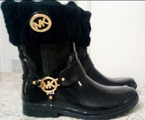 * Flash Sale! * Authentic Michael Kors Rainboots w/ MK socks $80