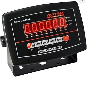 Led Indicator Optima Op-901a Display For Floor Scale Power Cordrechargeable Bat