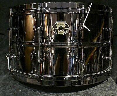 Ludwig Drums Black Magic 8 X 14 Black Nickel Over Brass Shell Snare Lw0814 New