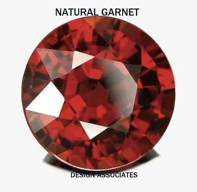7 MM ROUND NATURAL RED GARNET 2 PC SET