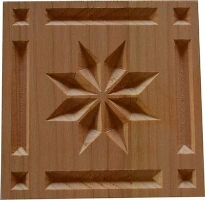 Cherry Rosette (Solid Cherry Wood Rosette Corner Blocks Great for RVs and Home Trim Decor Nice!!)