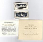 Franklin Mint Christmas Ingot