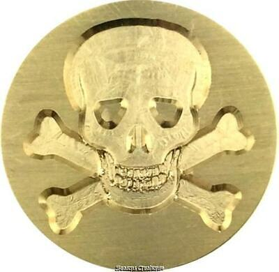 Skull and Crossbones Wax Seal Stamp - 1 inch dia. seal with wood handle