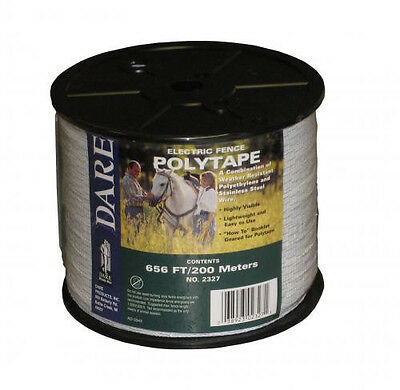 Usa Dare 12 Inch Poly Electric Fence Horse Tape 656ft