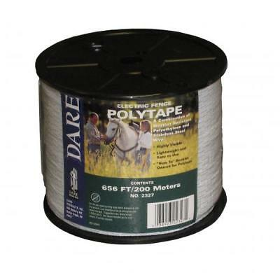 Dare 2327 Electric Fence Poly Tape 12 Wide X 656 200 Meters White