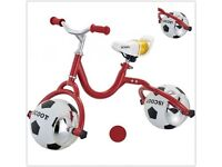 iScoot football Balance Bike First Ride On Learning Training Cycle Bicycle brand new & boxed