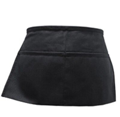 2 Pack Black Server Waiter Waitress 2 Pocket Waist Apron