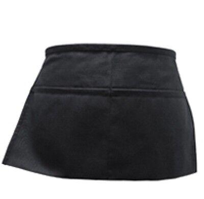 2 Pack Black Server Waiter Waitress 2 Pocket Waist Apron
