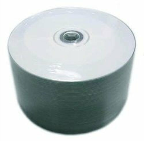600 Pcs 52x White Inkjet Hub Printable Blank Cd-r Disc Me...