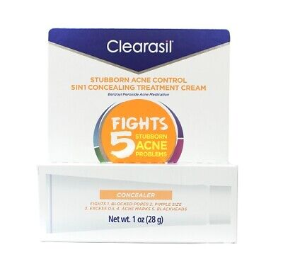 Clearasil Stubborn Acne Control 5in1 Concealing Treatment Cream, 1 Oz
