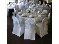 Chair cover hire with sash 99p - Chafing Dish hire £5 Slough/Bracknell/Reading/Staines/Berkshire